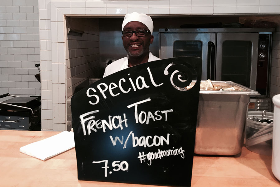 The good morning special at Dean and Deluca in Uptown Charlotte