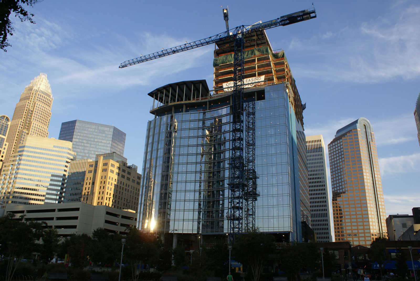 Changing skyline in Uptown Charlotte