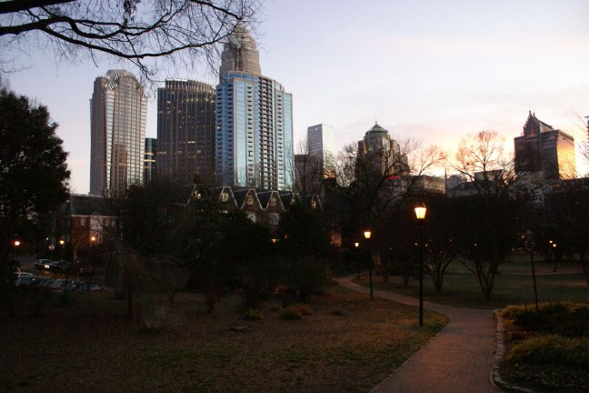 the 4th Ward Park as seen on an evening stroll in Uptown Charlotte