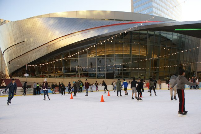 Ice Skating at the NASCAR Hall of Fame