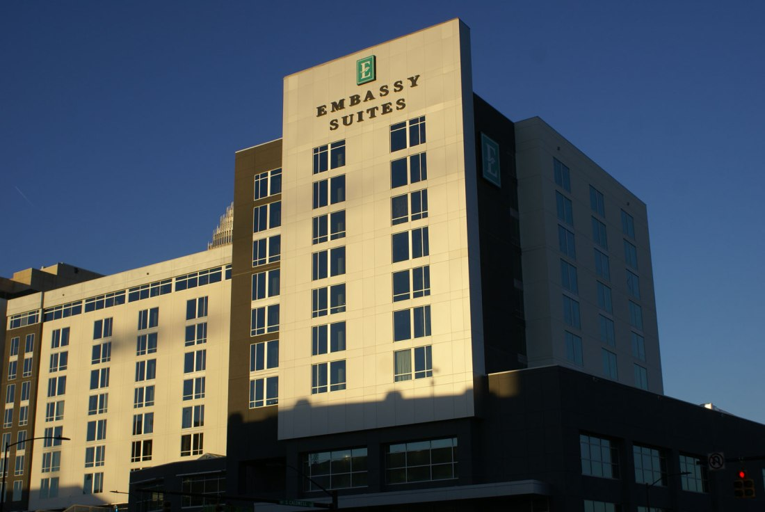 the Embassy Suites