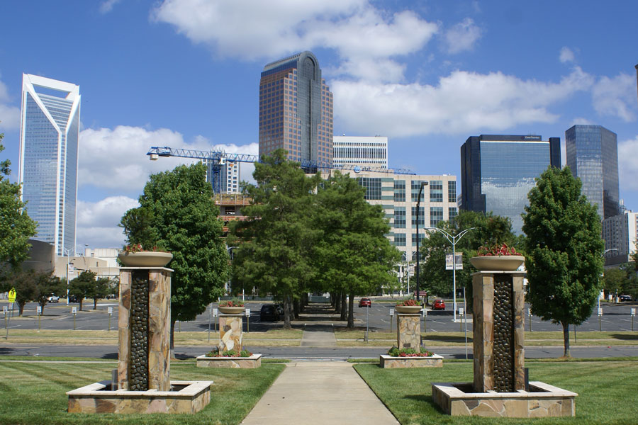 The view from the First Baptist Church in Uptown Charlotte