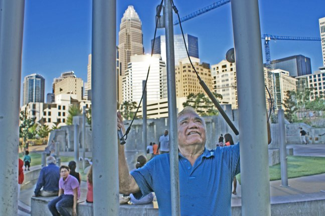 chimes at Romare Bearden Park in Uptown Charlotte