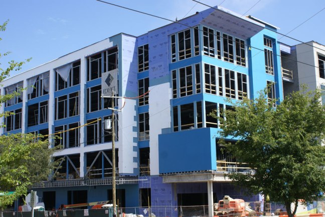 Edifice construction in the Southend near Uptown Charlotte.