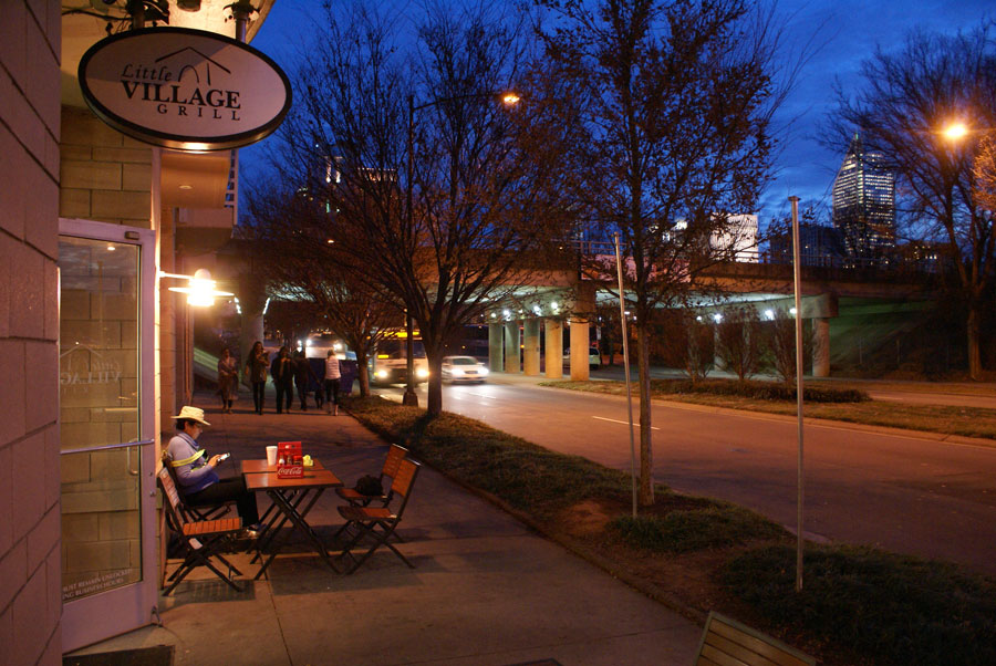 The Little Village Grill near Uptown Charlotte