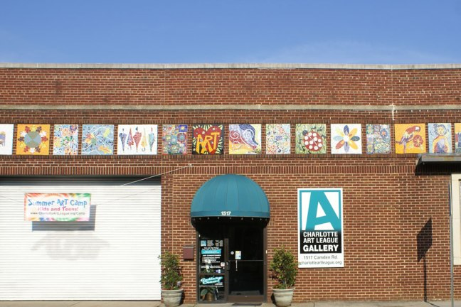 The Charlotte Art League gallery in the Southend near Uptown Charlotte