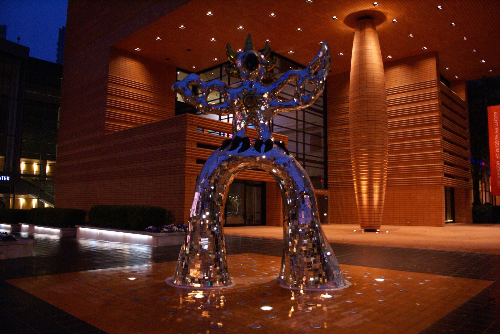 The Firebird stands outisde of the Bechtler Museum of Modern Art in Uptown Charlotte