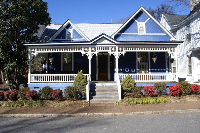 4th ward blue, a house we strolled past recently in Uptown Charlotte