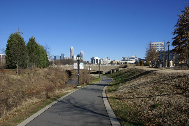 The Little Sugar Creek Greenway near Uptown Charlotte