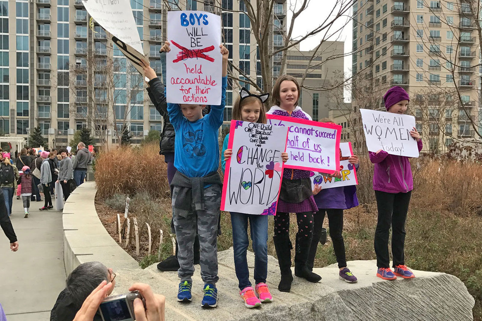 Charlotte's women's march was a family affair