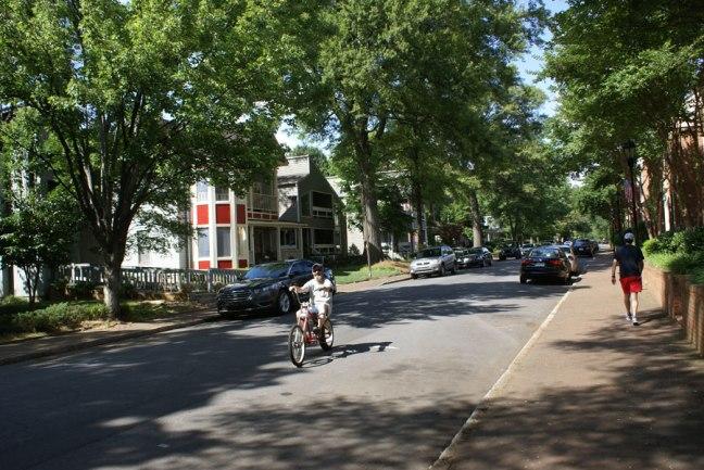 Enjoying a 4th ward bicycle ride near uptown Charlotte